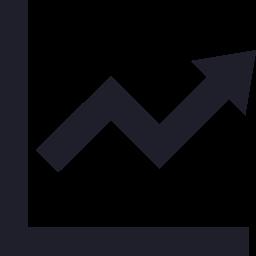 矢印付きの折れ線グラフ